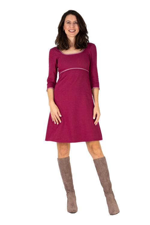 Kleid Anabel dunkel Pink