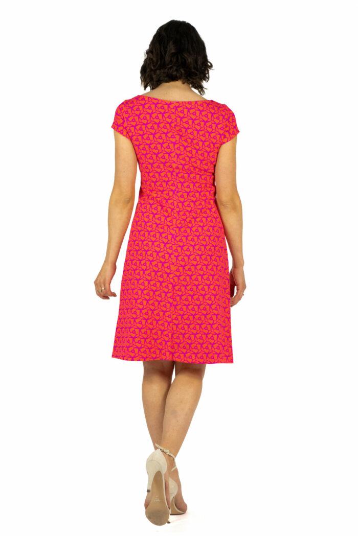 Kleid Audrey Pink Orange von hinten