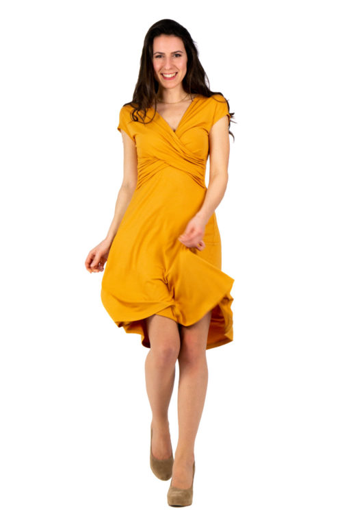 Kleid Felica in gelb