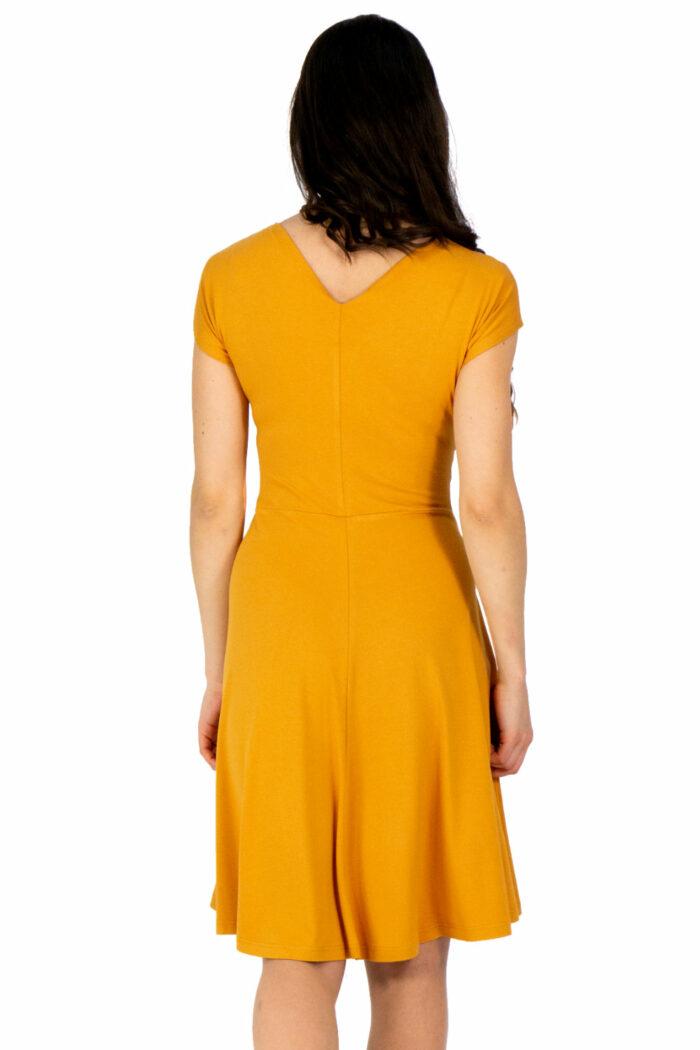 Kleid Felica in gelb von hinten