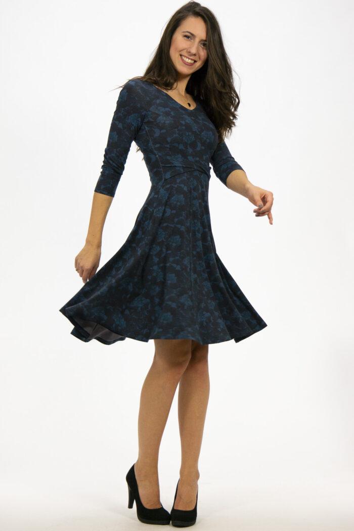 Kleid Sabina Gingko blau