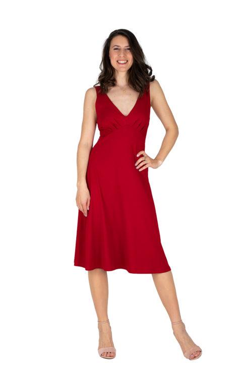 schwingendes Sommerkleid Sylvie in rot