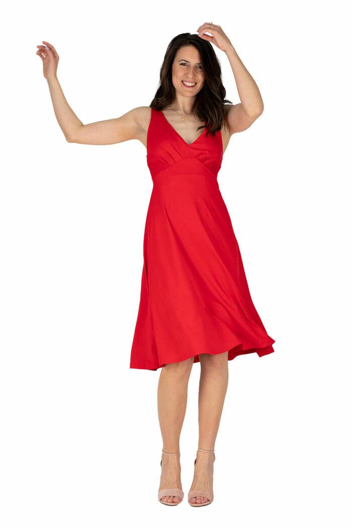 schwingendes Sommerkleid Sylvie in hellrot